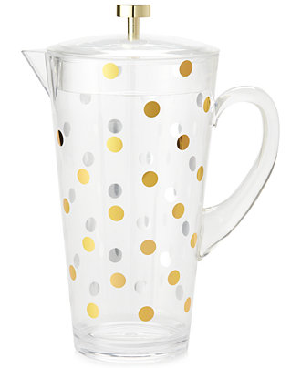 Kate Spade Gold Dot Acrylic Pitcher