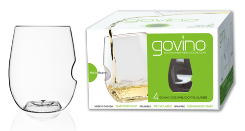 Govino Dishwasher Safe White Wine Set Of 4