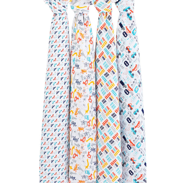 Aden + Anais Pup In Tow Swaddle Set Of 4