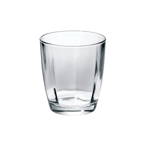 Vietri Optical Smoke Gray Double Old Fashioned Glass