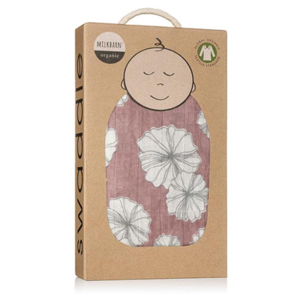 Milkbarn Rose Floral Muslin Swaddle Blanket