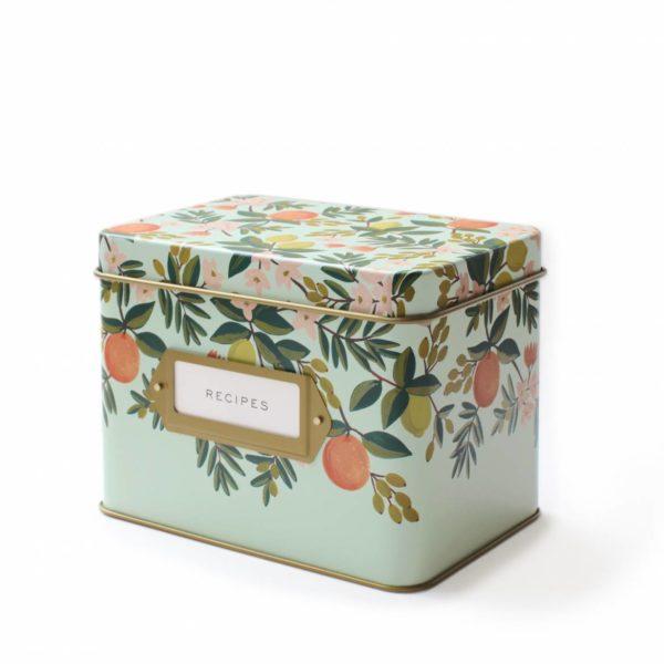 Rifle Paper Co. Kitchen Recipe Box Citrus Floral