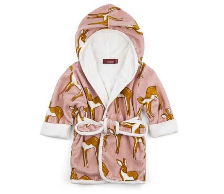 Milkbarn Hooded Robe - Tulips f0bd903c0