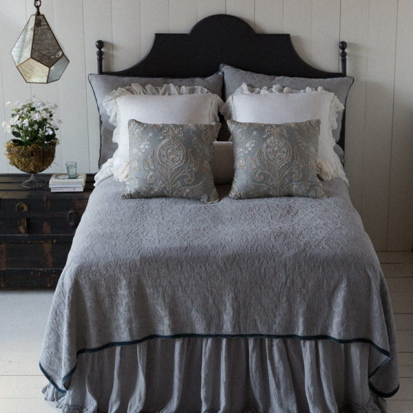 Bella Notte Coverlet Edged With Silk Velvet Adele