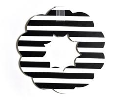 black stripe wreath