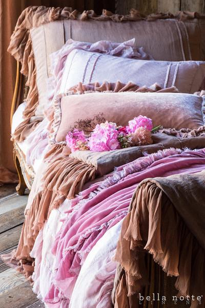 Bella Notte Decorative Kidney Pillow Loulah Tulips Inspiration Decorative Kidney Pillows