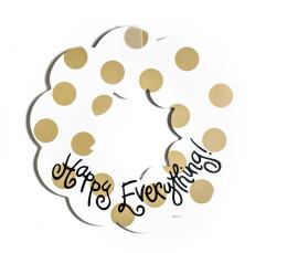 neutral dot wreath