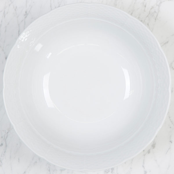 Sasha Nicholas Weave Simply White Large Serving Bowl