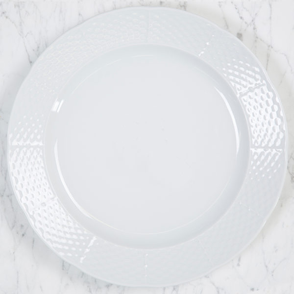 Sasha Nicholas Weave Simply White Charger/Dinner Plate