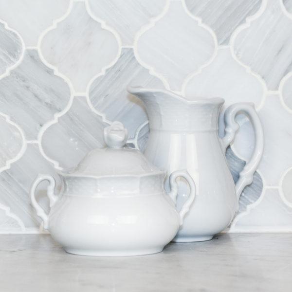 Sasha Nicholas Weave Simply White Cream & Sugar