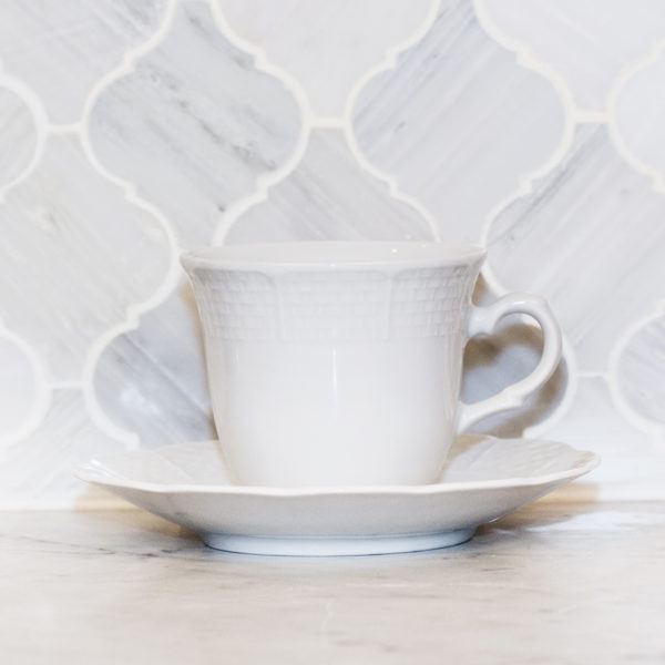 Sasha Nicholas Weave Simply White Cup & Saucer