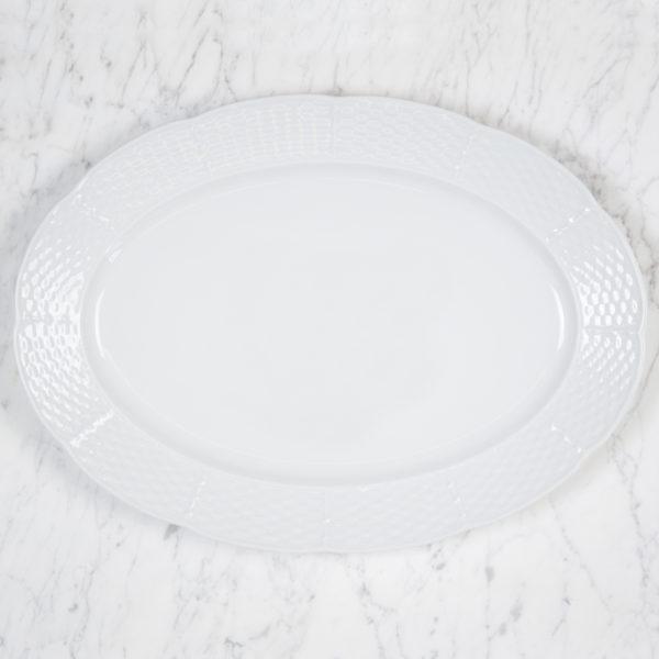 Sasha Nicholas Weave Simply White Oval Platter