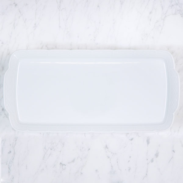 Sasha Nicholas Weave Simply White Rectangle Platter
