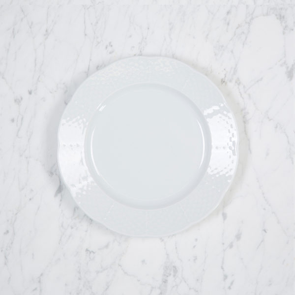 Sasha Nicholas Weave Simply White Salad Plate