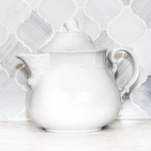 Sasha Nicholas Weave Simply White Teapot