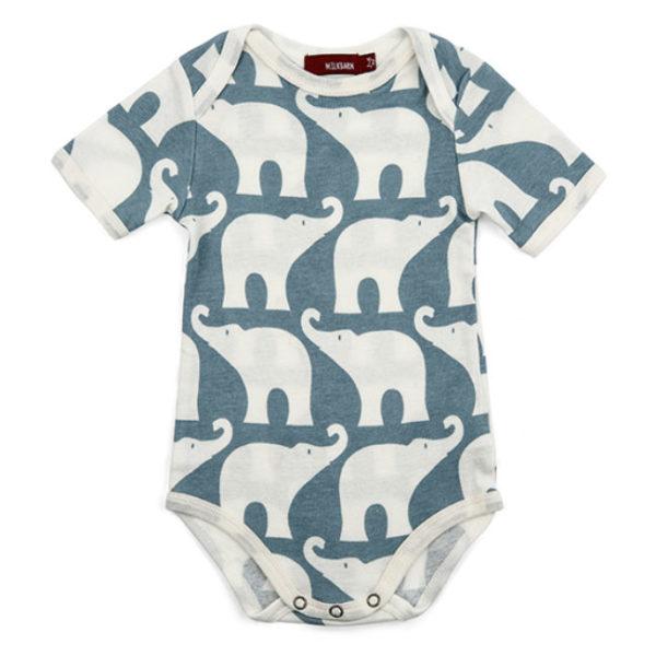 Milkbarn Blue Elephant Onesie