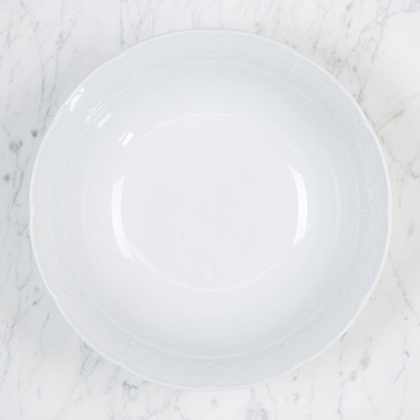 Sasha Nicholas Weave Simply White Medium Serving Bowl