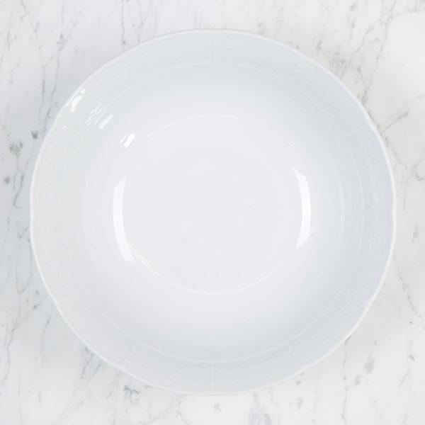 Sasha Nicholas Weave Simply White Medium Serving Bowl
