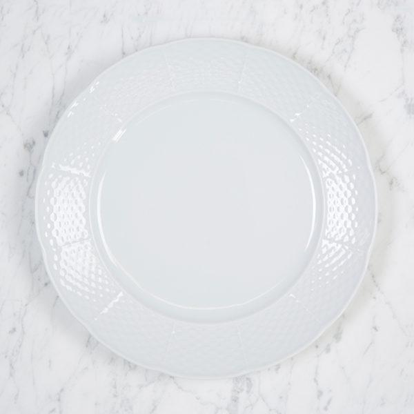 Sasha Nicholas Weave Simply White Dinner Plate