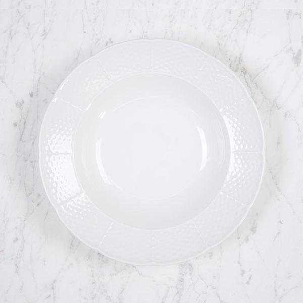 Sasha Nicholas Weave Simply White Rim Soup Bowl