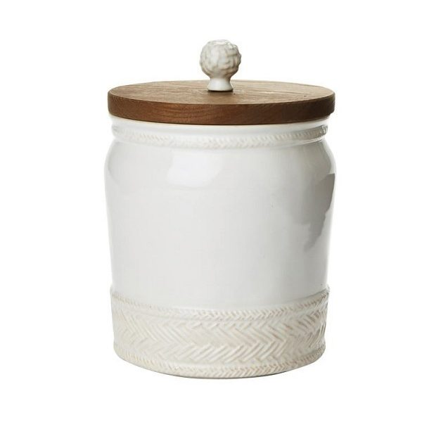 Juliska Le Panier 7.5″ Canister With Wooden Lid