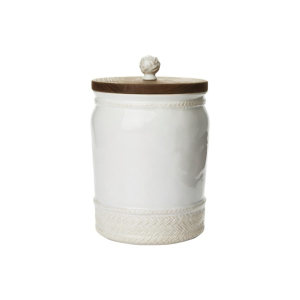 Juliska Le Panier 10″ Canister With Wooden Lid