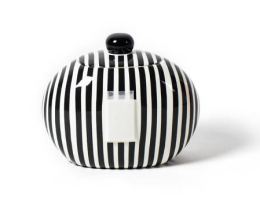 black stripe cookie jar