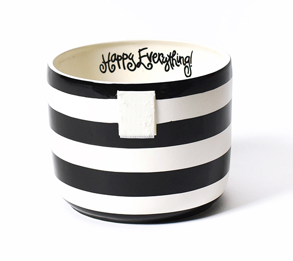 Happy Everything Black Stripe Mini Bowl