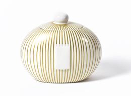 gold stripe cookie jar