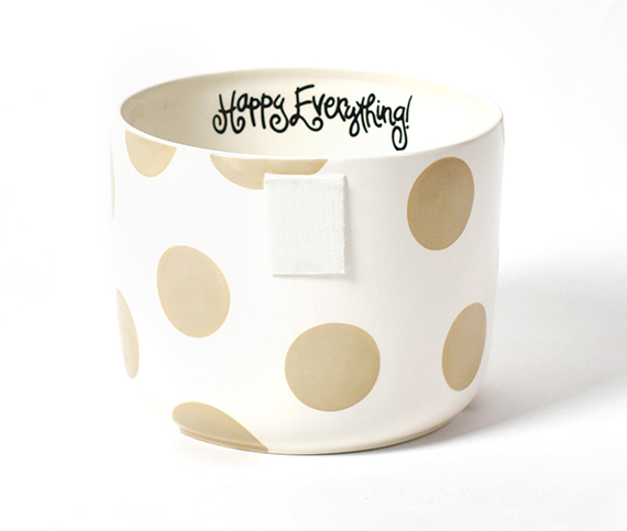 Happy Everything Neutral Dot Mini Bowl