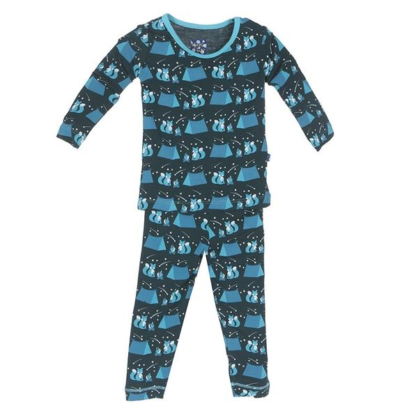 Kickee Pants Camping Fox Pajama Set