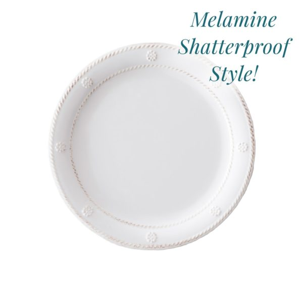 Juliska Al Fresco Berry & Thread Melamine Salad Plate