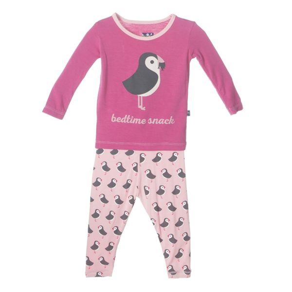 Kickee Pants Lotus Puffin Pajama Set