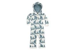 blue elephant hooded romper
