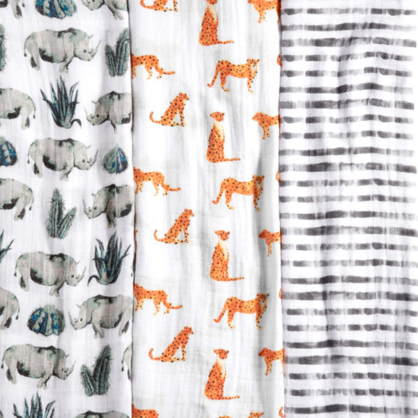 Aden + Anais Classic Swaddle 3 Pack – Serengeti