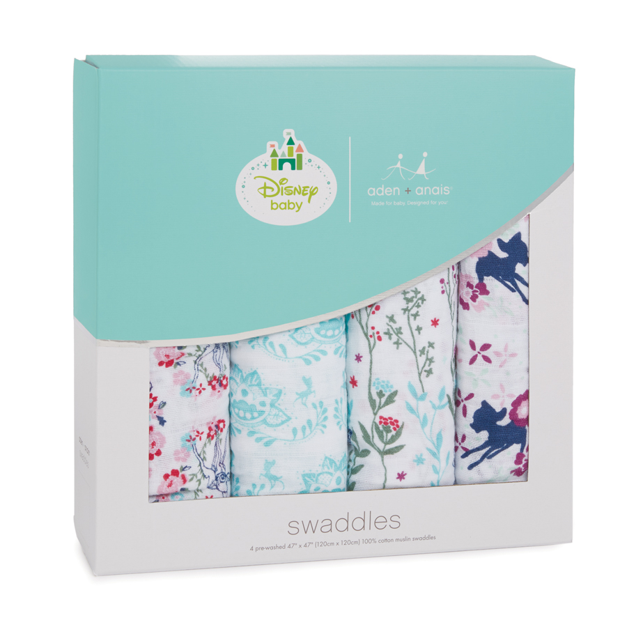 b1070541810f Aden + Anais Classic Muslin Swaddle 4 Pack - Bambi - Tulips