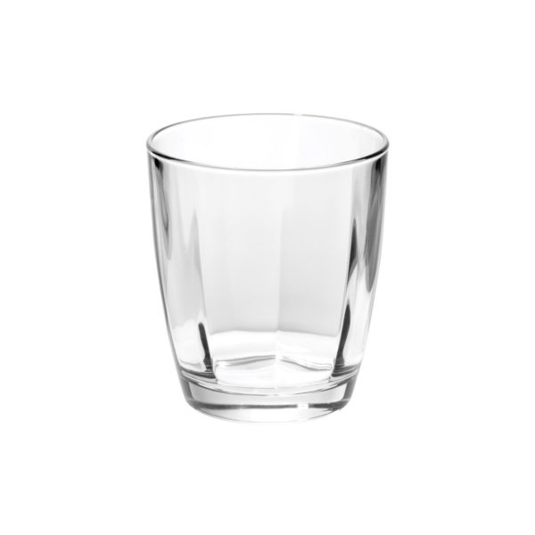 Vietri Optical Clear Double Old Fashioned Glass