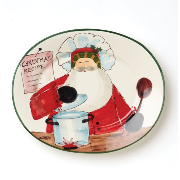 Vietri Old St. Nick Large Oval Platter