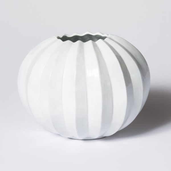 Vietri Incanto Round Pleated Vase