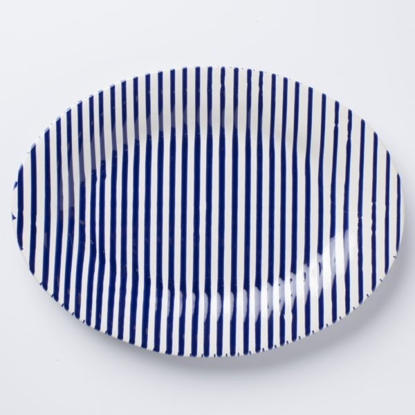 Vietri Stripe Medium Oval Platter