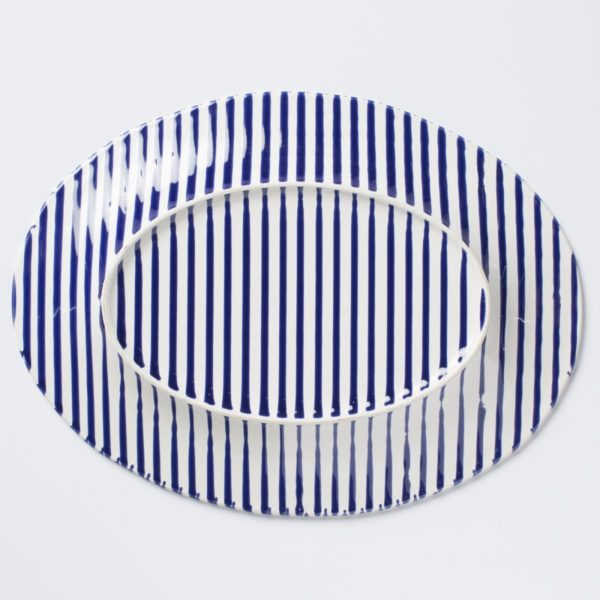 Stripe Oval Platter1