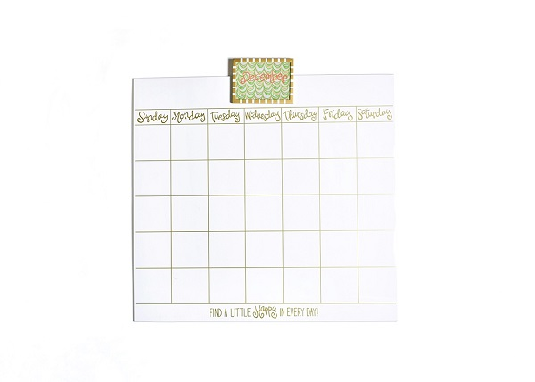 Happy Everything Magnetic Dry Erase 18 Wall Calendar Tulips