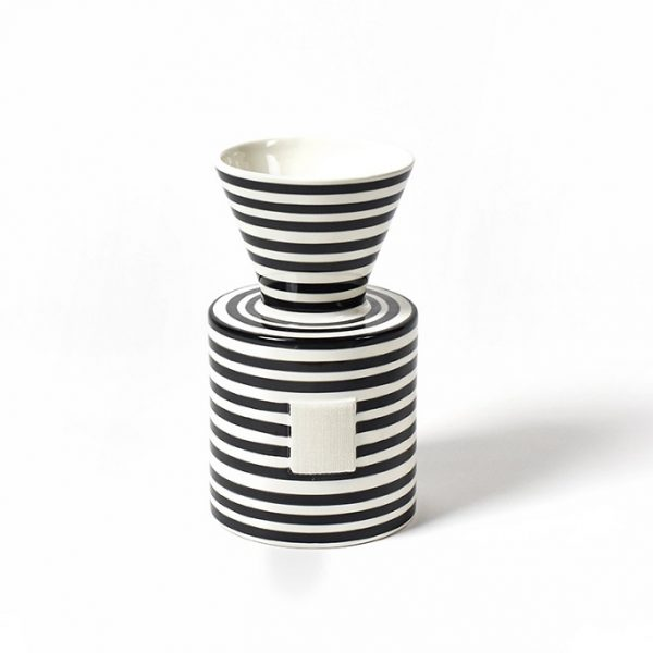 Happy Everything Mini Black Stripe Vase