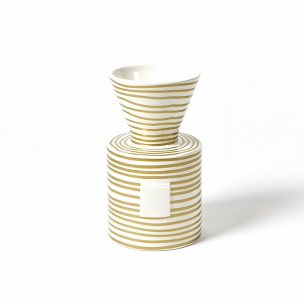 Happy Everything Mini Gold Stripe Vase