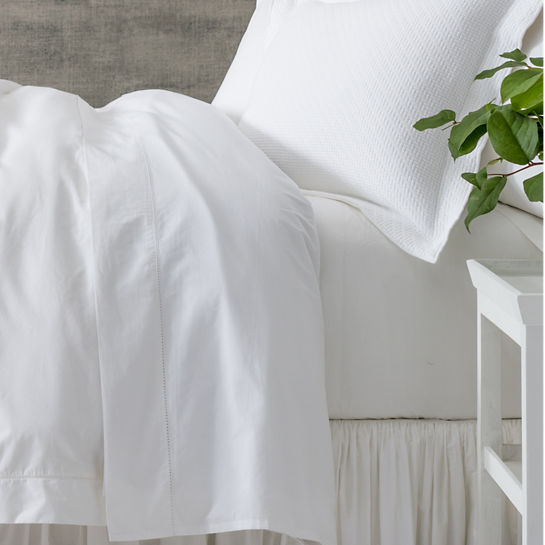 Pine Cone Hill Hemstitch White Sheet Set
