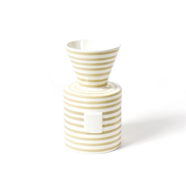 Happy Everything Mini Neutral Stripe Vase