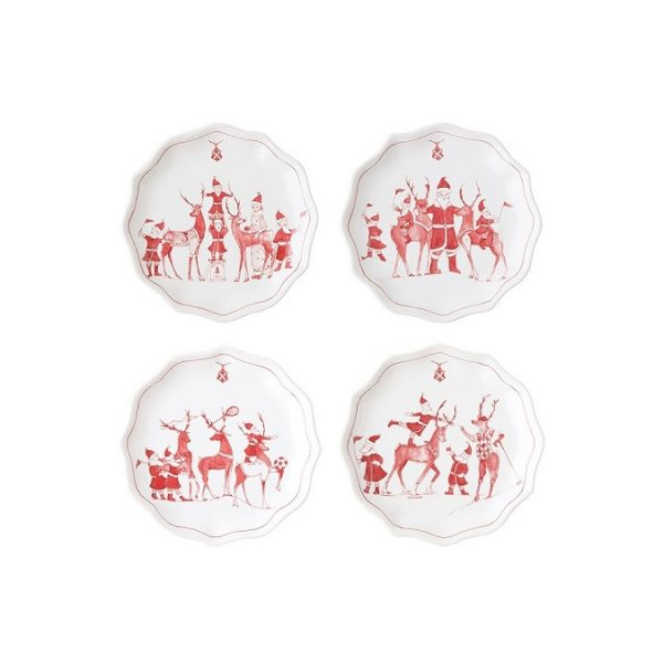 Juliska Reindeer Games Tidbit Plates Set