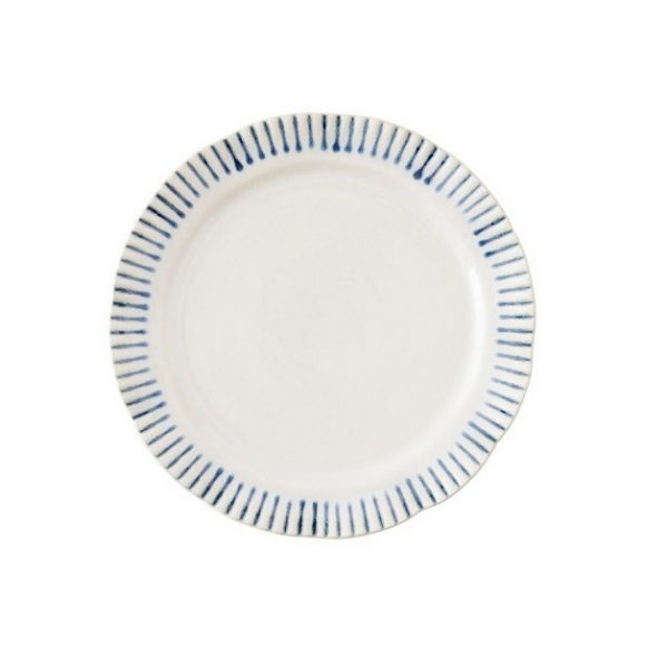Juliska Sitio Stripe Indigo Salad Plate