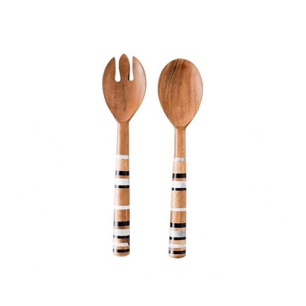 Juliska Stonewood Stripe Salad Server Set