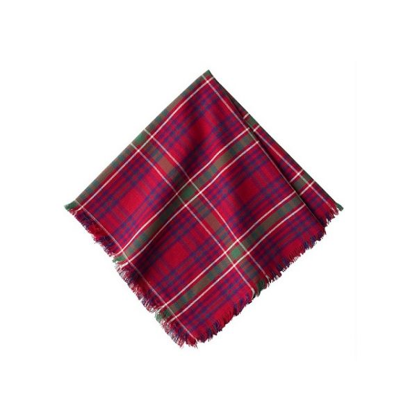Juliska Red Tartan Christmas Napkin